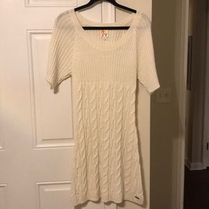 Roxy Cream Sweater Dress